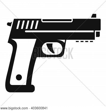 Policeman Pistol Icon. Simple Illustration Of Policeman Pistol Vector Icon For Web Design Isolated O