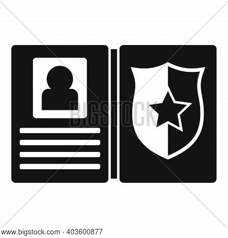 Policeman Wallet Icon. Simple Illustration Of Policeman Wallet Vector Icon For Web Design Isolated O