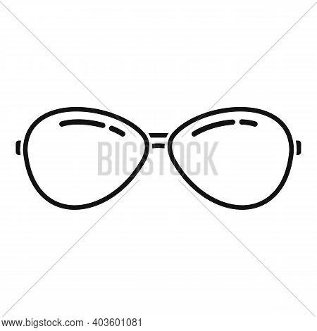 Policeman Sunglasses Icon. Simple Illustration Of Policeman Sunglasses Vector Icon For Web Design Is