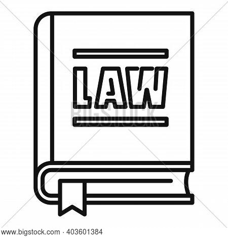 Policeman Law Icon. Outline Policeman Law Vector Icon For Web Design Isolated On White Background