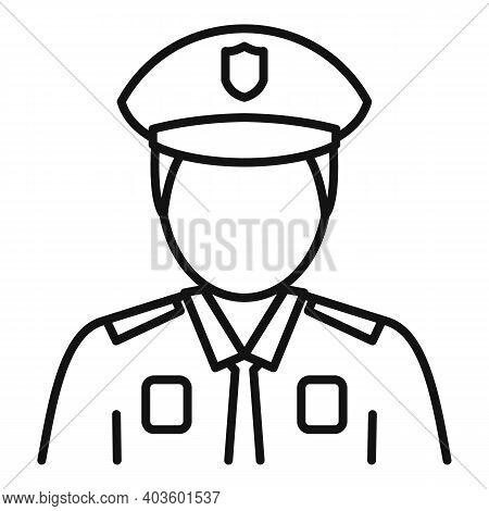 Indian Policeman Icon. Outline Indian Policeman Vector Icon For Web Design Isolated On White Backgro