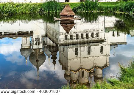 Russia, Rostov, July 2020. Reflection In The Water Of The Ensemble Of The Ancient Kremlin.