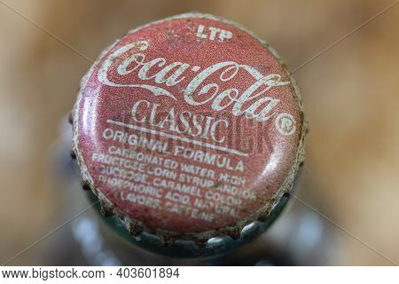 Indianapolis - Circa January 2021: Coca Cola Classic Logo. Coke Products Are Among The Best Selling