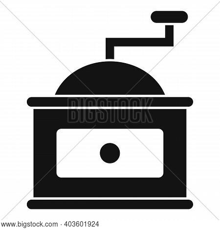 Coffee Grinder Icon. Simple Illustration Of Coffee Grinder Vector Icon For Web Design Isolated On Wh