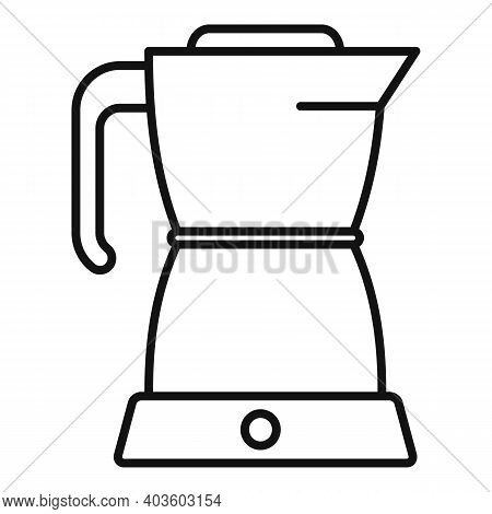 Coffee Kettle Icon. Outline Coffee Kettle Vector Icon For Web Design Isolated On White Background