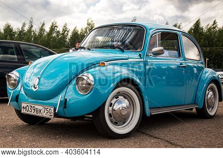 Moscow, Russia - July 06, 2019: Volkswagen Käfer 1303. Type 1 Vintage Vw Beetle Was Produced Since 1