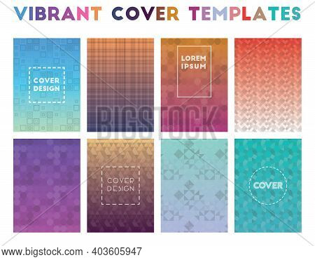 Vibrant Cover Templates. Alive Geometric Patterns, Worthy Vector Illustration.