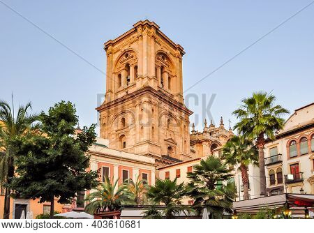 Tower Of Granada Cathedral Of The Incarnation (catedral De Granada), Spain