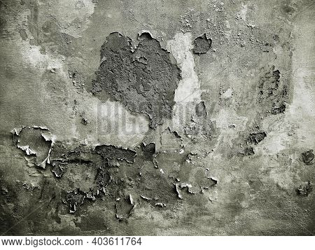 Grunge Old Wall With Moisture