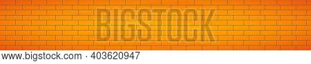 Realistic Background Wall, New Yellow Brickwork - Vector Illustration
