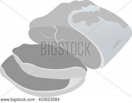 Pork Tenderloin. Vector Illustration Isolated On White Background.