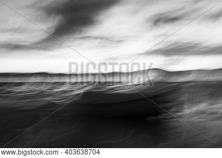 Monochrome Intentional Camera Movement Blurs Of Coastal Evocative  Intriguing Impressionist Style Im