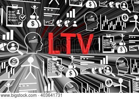 Ltv Concept Blurred Background 3d Render Illustration