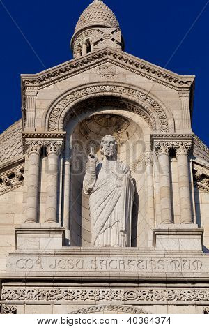 Christ In The Sacre Coeur, Montmarte, Paris, France