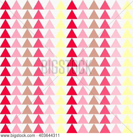 Abstract Pattern With Multicolored Triangles. Multicolored Geometric Shapes On A White Background. V