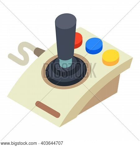 Joystick Controller Icon. Isometric Of Joystick Controller Vector Icon For Web Design Isolated On Wh