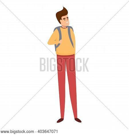 Modern School Uniform Icon. Cartoon Of Modern School Uniform Vector Icon For Web Design Isolated On
