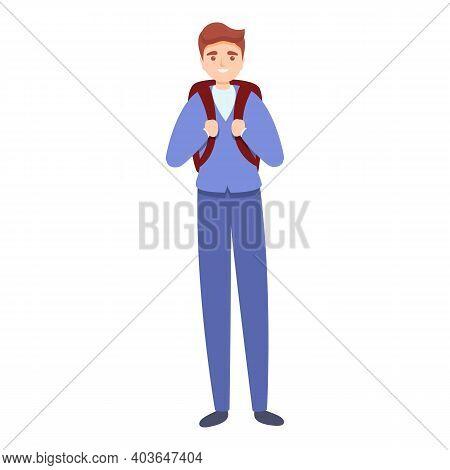 Junior School Uniform Icon. Cartoon Of Junior School Uniform Vector Icon For Web Design Isolated On