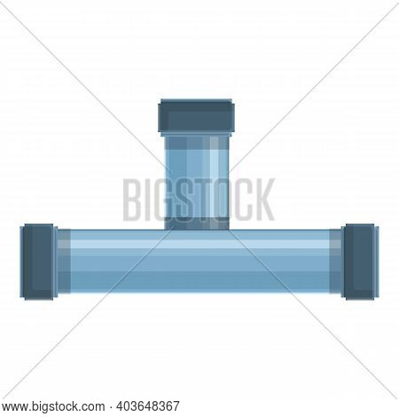 Install Pipe Icon. Cartoon Of Install Pipe Vector Icon For Web Design Isolated On White Background