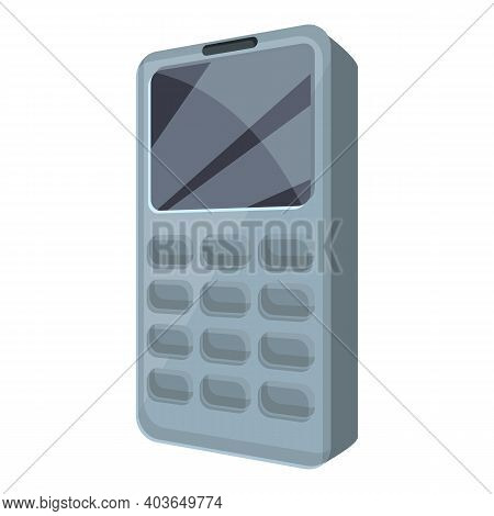 Old Cellphone Icon. Cartoon Of Old Cellphone Vector Icon For Web Design Isolated On White Background