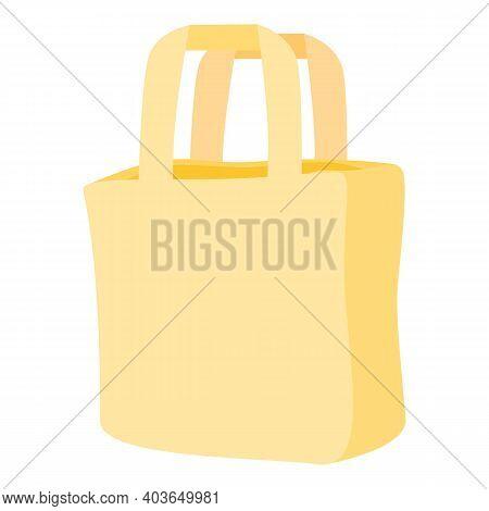Carton Bag Icon. Cartoon Of Carton Bag Vector Icon For Web Design Isolated On White Background