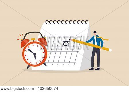 Schedule Business Appointment, Important Date, Working Project Plan Or Reminder Concept, Smart Busin