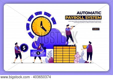 Mobile Page Design Of Automatic Payroll System. Banking Paycheck Accounting System. Designed For Lan