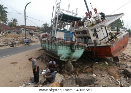 Destroyed Boats