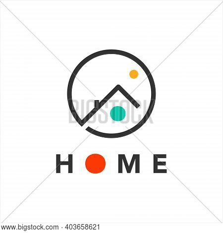 Home Logo Simple Line Art Housing And Interior Property Industry Template Idea