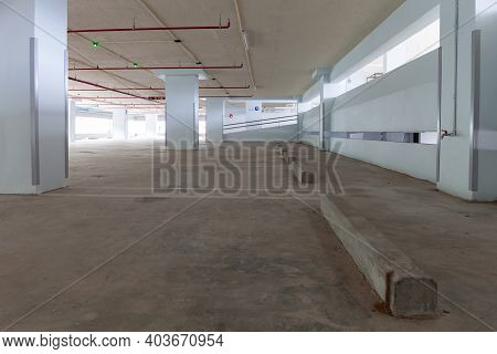 Empty Parking Garage Car Park In The Mall.