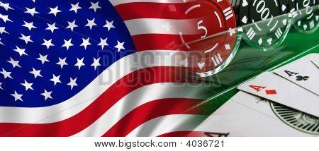 Usa Flag And Gambling