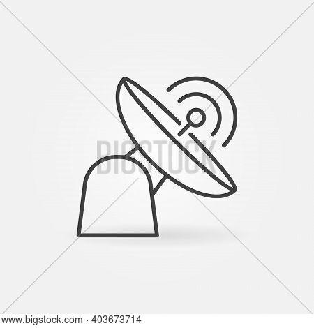 Radar Or Parabolic Antenna Vector Thin Line Concept Icon Or Design Element