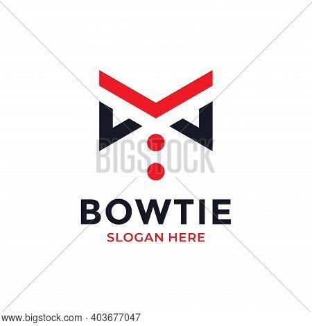 Bow Tie Logo Design Template. Business Logotype. Creative Tuxedo Icon Vector Illustration.
