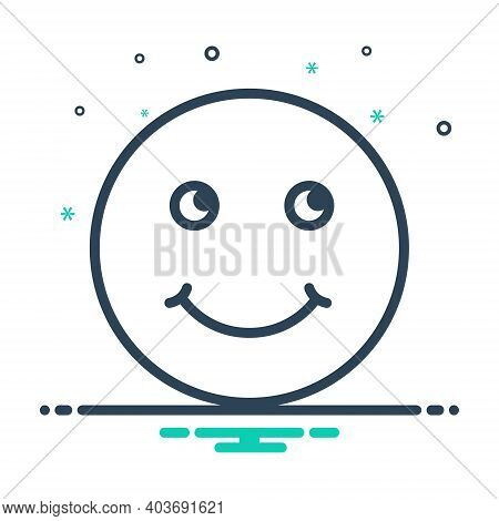 Mix Icon For Smile Grin Deride Jest