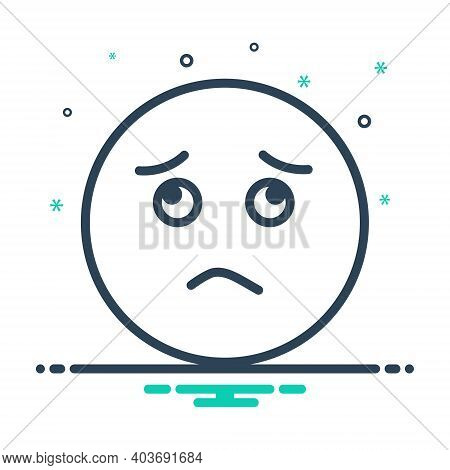 Mix Icon For Worried Sadness Gloomdoldrums Boredom