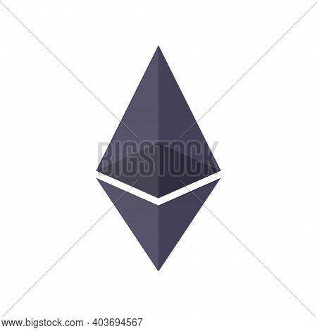 Crypto Currency Coin Chrystal Icon. Block Chain Sign. Template For Web Or Mobile Apps. Money And Fin