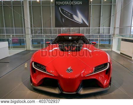 Tokyo, Japan - April 3, 2018: Toyota Mega Web Exhibition Center On Odaiba Island, Tokyo. New Models