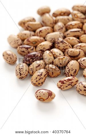 borlotti beans on a white background