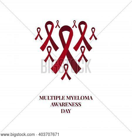 Multiple Myeloma Awareness Burgundy Ribbon Medical Set