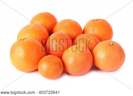 Tropical ripe fruits. Isolated object on white background