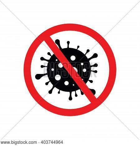 Sign Caution Coronavirus. Stop Coronavirus. Coronavirus Outbreak. Coronavirus Danger And Public Heal