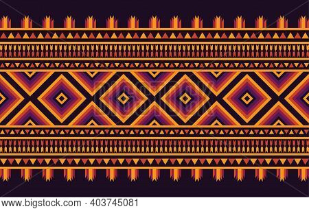 African Tribal Ethnic Pattern Seamless Traditional Design For Background, Carpet, Wallpaper, Wrapยin