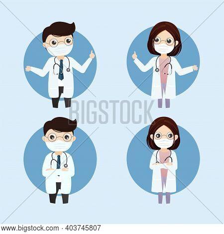 Doctor Wearing Medical Mask.