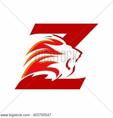 Bold And Strong Illustration Logo Design Initial Z Combine With Lion Head, Make Your Company Look Br