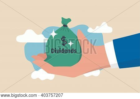Dividend Stocks, Public Company Payback Profit In Stock Market, Return Or Profit From Investment Con