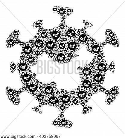 Vector Chinese Flu Virus Mosaic Is Made From Scattered Recursive Chinese Flu Virus Elements. Recursi