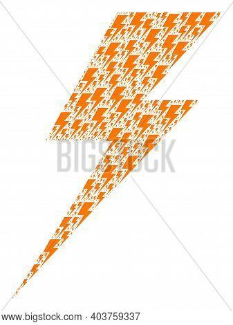 Vector Electric Strike Fractal Is Organized Of Scattered Recursive Electric Strike Parts. Recursive