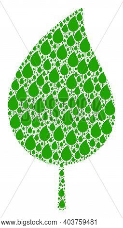 Vector Floral Leaf Composition Is Made From Repeating Itself Floral Leaf Elements. Recursion Composi