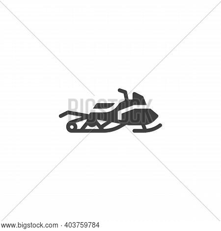 Snowmobile Vector Icon. Filled Flat Sign For Mobile Concept And Web Design. Snowmobile Glyph Icon. S