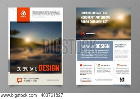 Modern Layout Template For Your Leaflet, Brochure Etc. With Sample Text In Separate Layer - Vector I